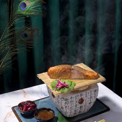 TEA SMOKED CHERRY MISO SALMON NUAC MAM PONZU _ FRESH CHERRY