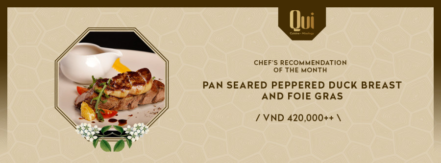 CHEF'S RECOMMENDATION OF THE MONTH