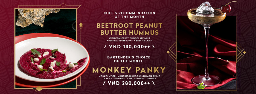 Bartender's Choice & Chef's Recommendation Of September